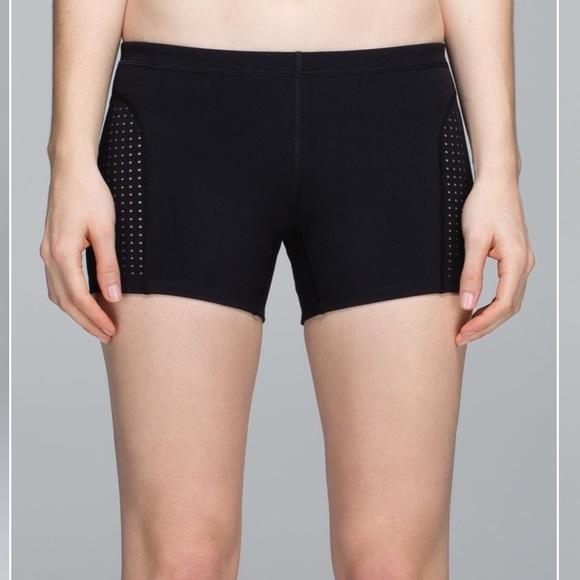 lululemon athletica Pants - Lululemon Black Sweat to Swim Shorts 2 4